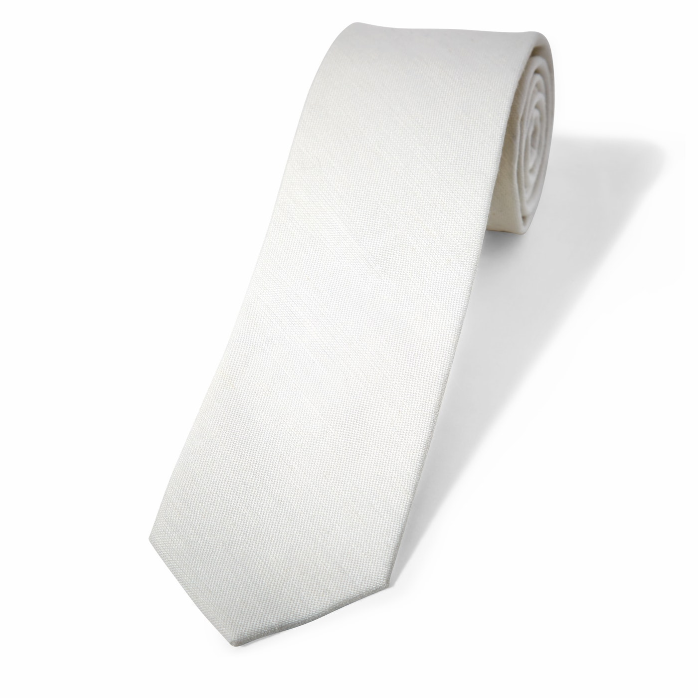 Ivory Linen Tie