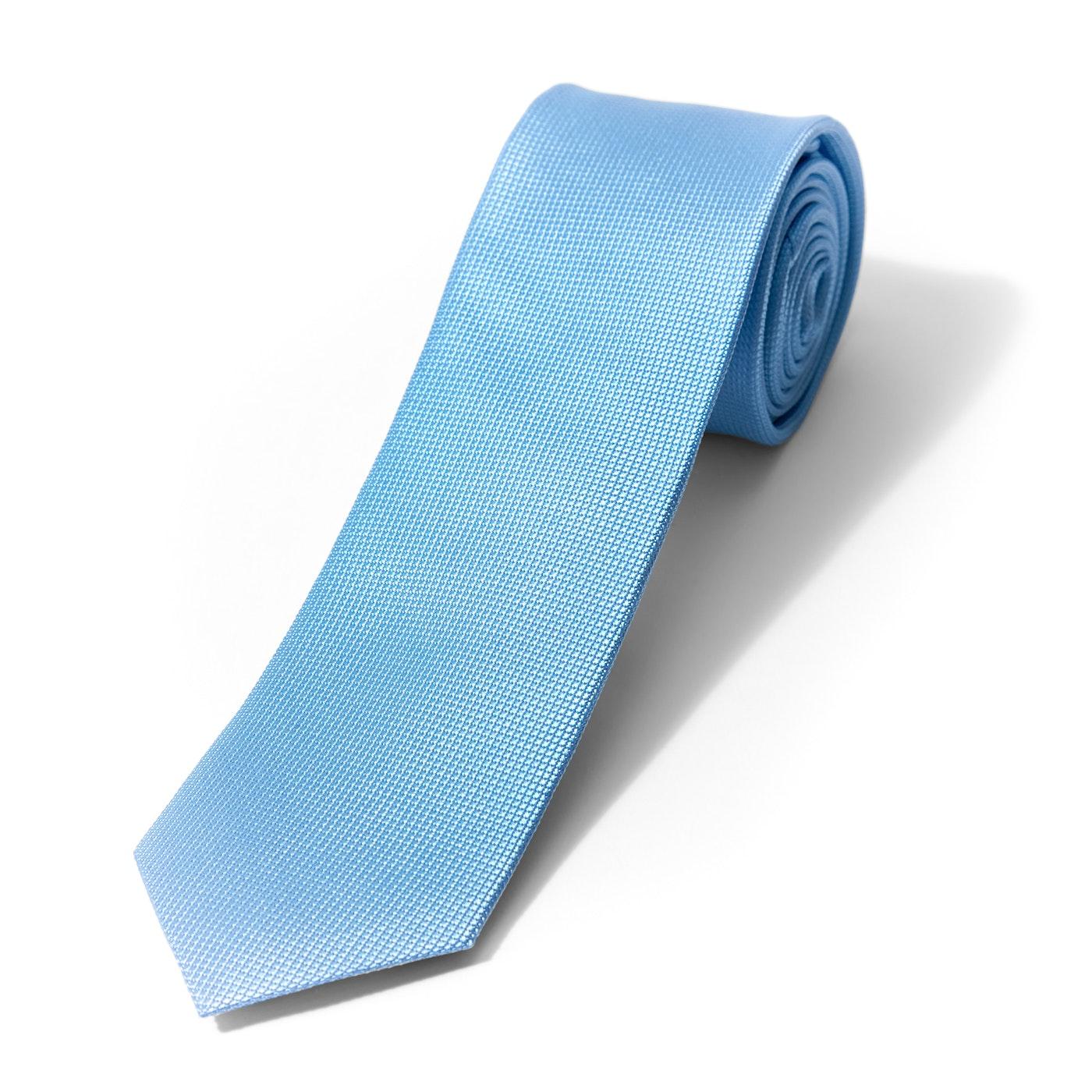 Blue Textured Micro Square Tie