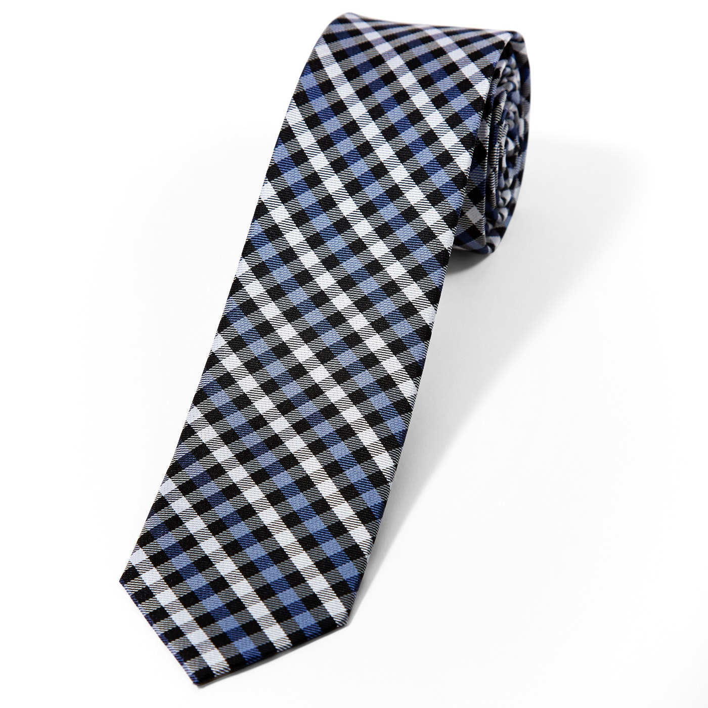 Blue Gingham Tie