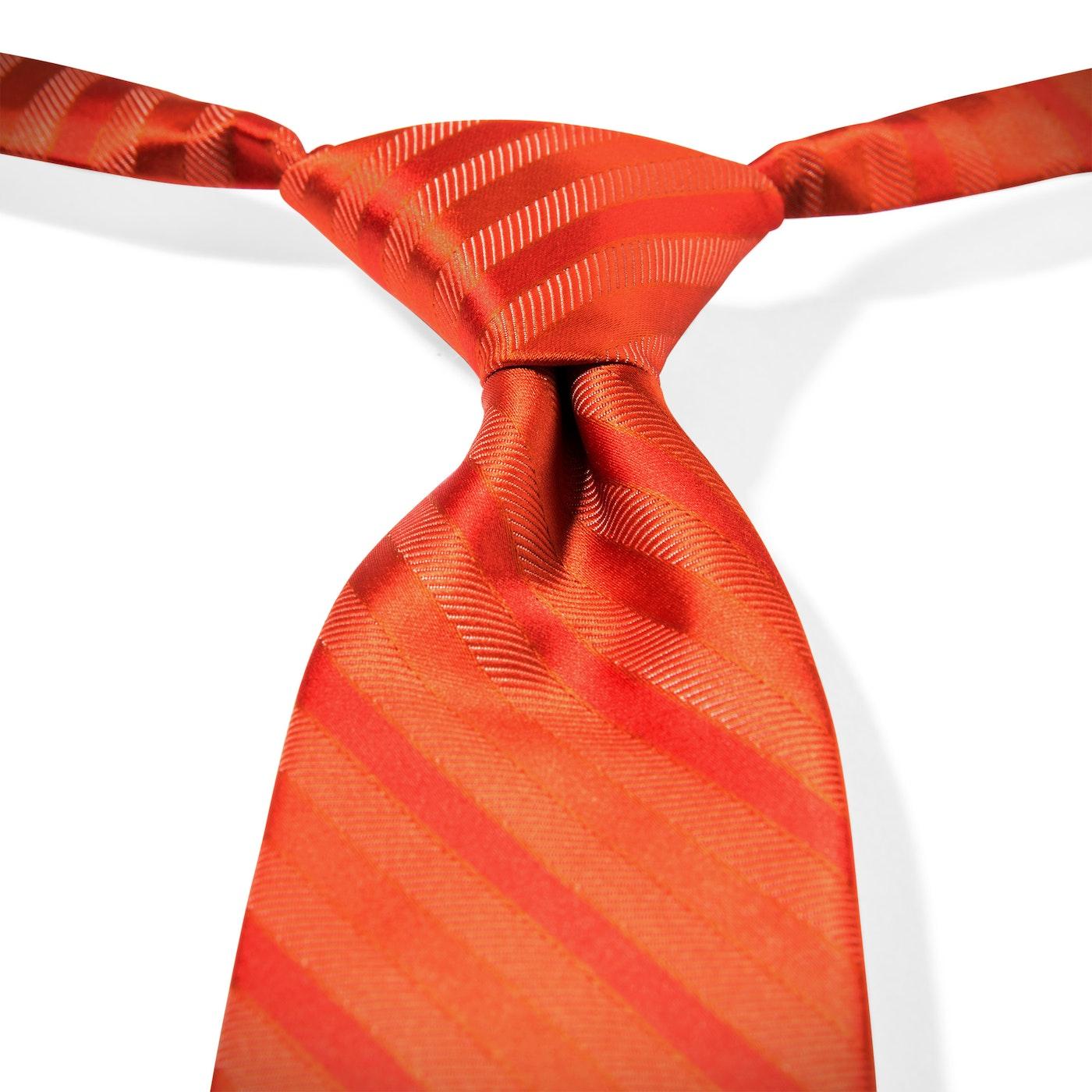 Dark Orange-Jalapeno Striped Pre-Tied Tie