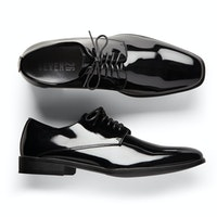 Glossy Black Tuxedo Shoes