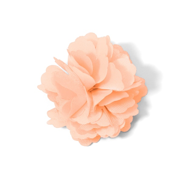 Peach Carnation Lapel Pin