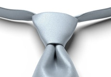 Desert Blue Solid Pre-Tied Tie