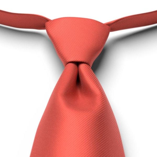 Persimmon Solid Pre-Tied Tie