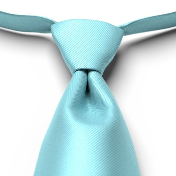 Turquoise Solid Pre-Tied Tie