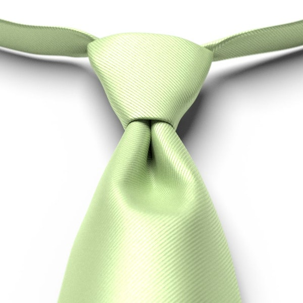 Lime Solid Pre-Tied Tie
