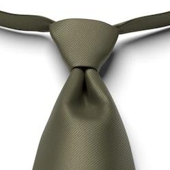 Olive Solid Pre-Tied Tie