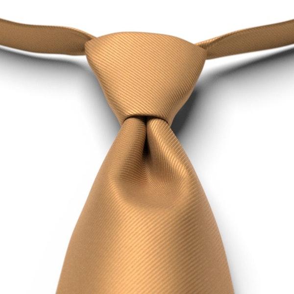 Midas Gold Solid Pre-Tied Tie