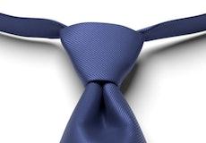 Sapphire Solid Pre-Tied Tie