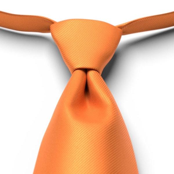 Tangerine Solid Pre-Tied Tie