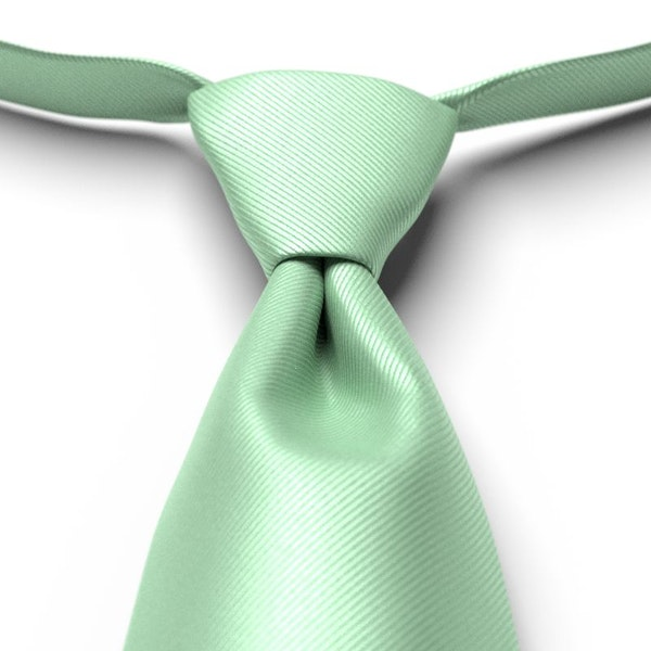 Mint Green Solid Pre-Tied Tie
