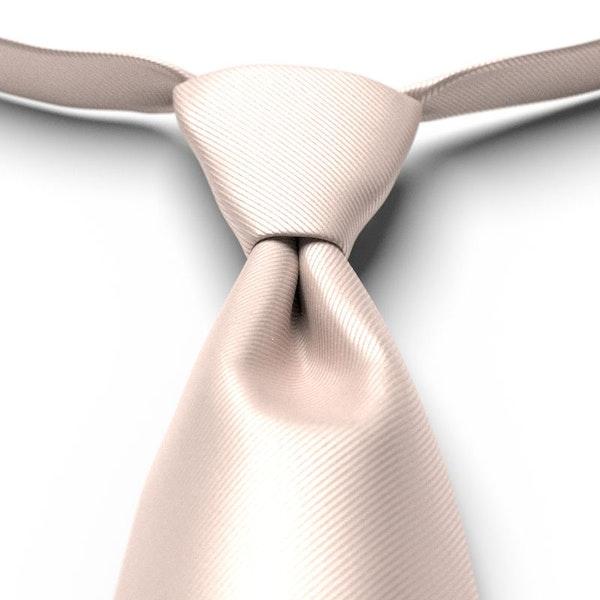 Nude Solid Pre-Tied Tie