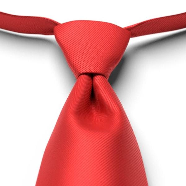 Ferrari Red Solid Pre-Tied Tie