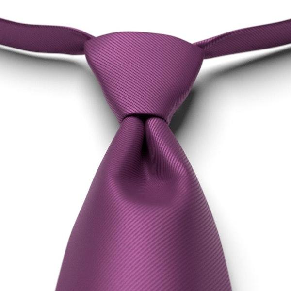 Persian Plum Solid Pre-Tied Tie
