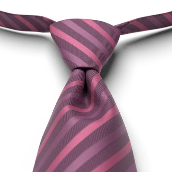 Plum Striped Pre-Tied Tie