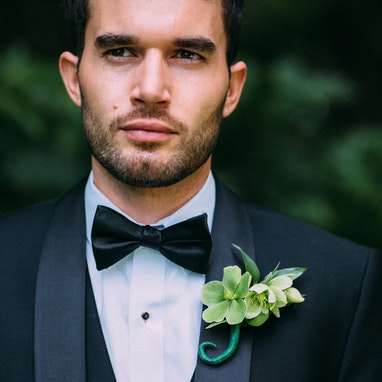 Black Shawl Lapel Tuxedo - Image by Frances Iacuzzi Photography