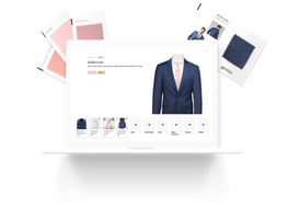 Swatches and suit builder user interface