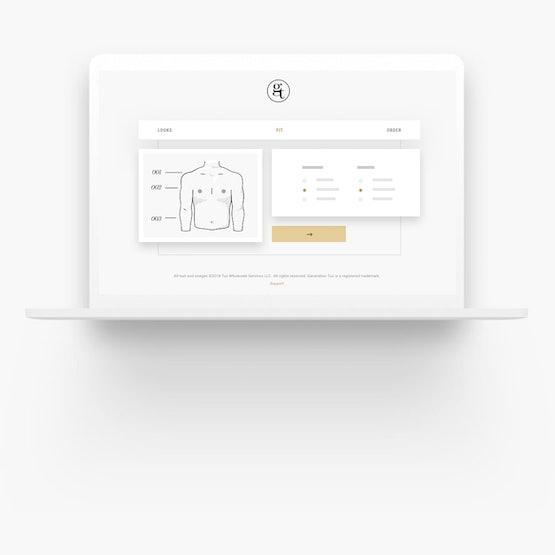Laptop showing Generation Tux setup process.