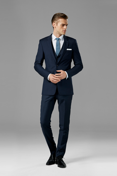 Navy Blue Notch Lapel Suit
