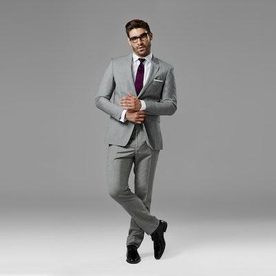 bcfe2a792450 Gray Sharkskin Notch Lapel Suit | Generation Tux