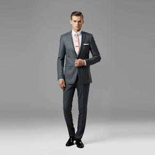 Iron Gray Peak Lapel Suit