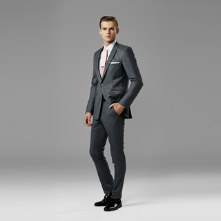Iron Gray Peak Lapel Suit