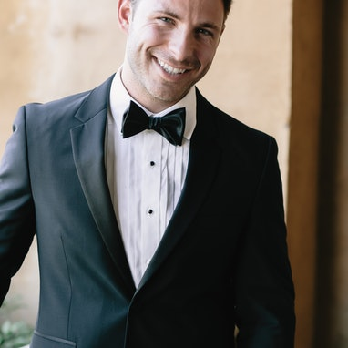 Black Notch Lapel Tuxedo - Image by Julia Sharapova Photography