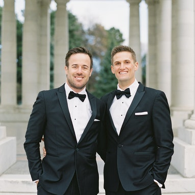 Black Peak Lapel Tuxedo - Image by Carrie King Photography