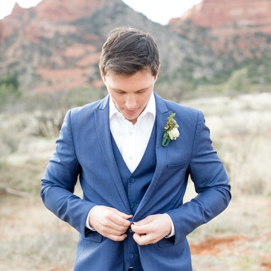 Mystic Blue Peak Suit - Image by Shelby Lea Photography