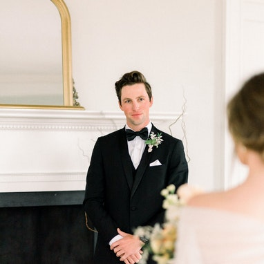 Black Shawl Lapel Tuxedo - Image by Adelyn Boling Photography