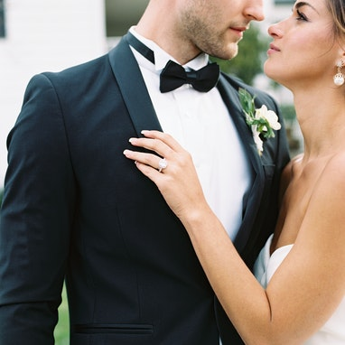 Black Shawl Lapel Tuxedo - Image by Hana Gonzales Photography