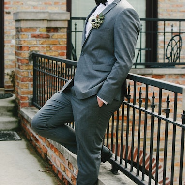 Iron Gray Peak Suit - Image by Dawn E Roscoe Photography