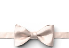 Nude Pre-Tied Bow Tie