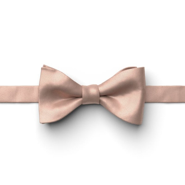 Rose Gold Pre-Tied Bow Tie