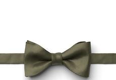 Olive Pre-Tied Bow Tie