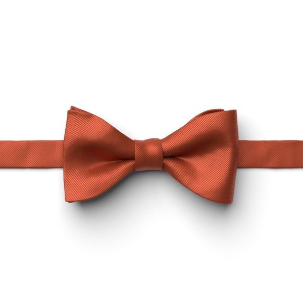 Burnt Orange Pre-Tied Bow Tie