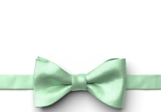Mint Green Pre-Tied Bow Tie