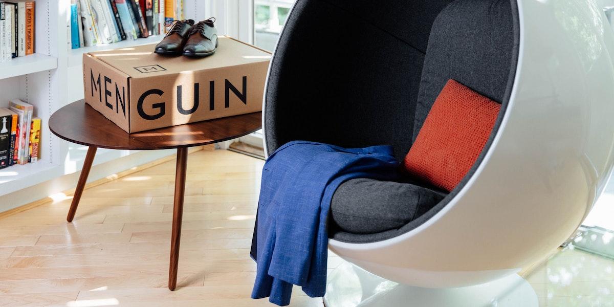 Menguin box in home office.