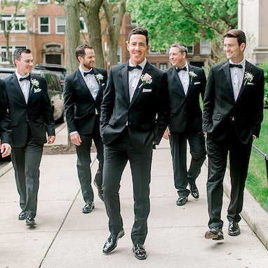 Black Notch Lapel Tuxedo - Image by Kenzie Leigh Photography