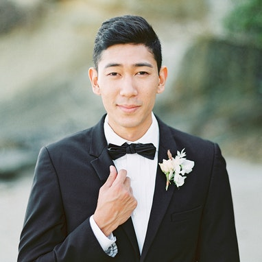 Black Notch Lapel Tuxedo - Image by Cavin Elizabeth Photography