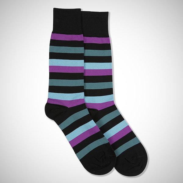 """""""I Do"""" Black Striped Sock"""