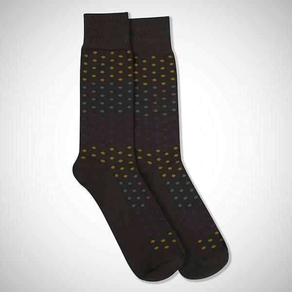 """I Do"" Gray Pin Dot Sock"