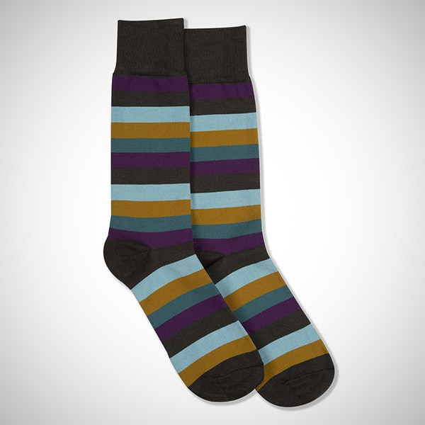 """I Do"" Gray Striped Sock"