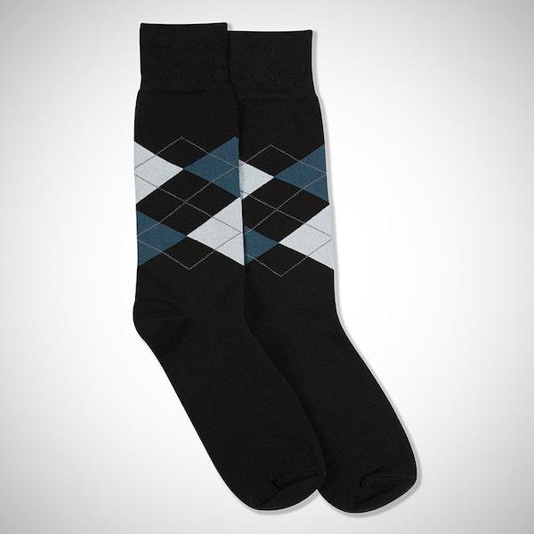Something Blue... Black Argyle Sock
