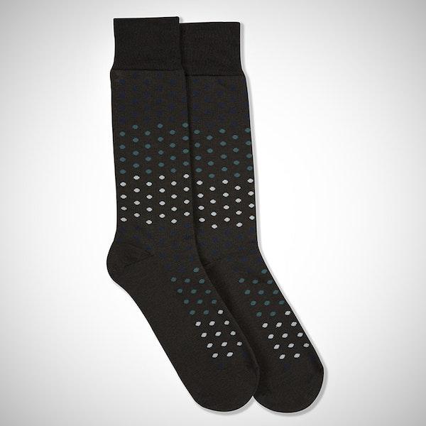 Something Blue... Gray Pin Dot Sock