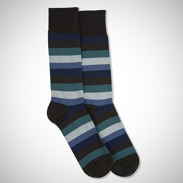 Something Blue... Gray Striped Sock