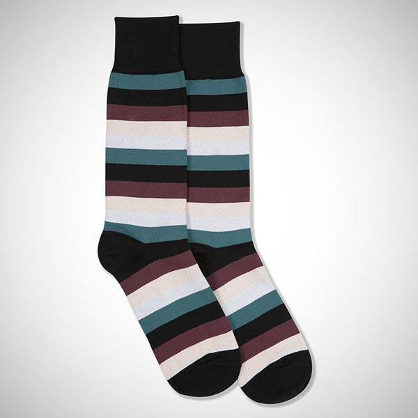 The Perfect Pair Black Striped Sock