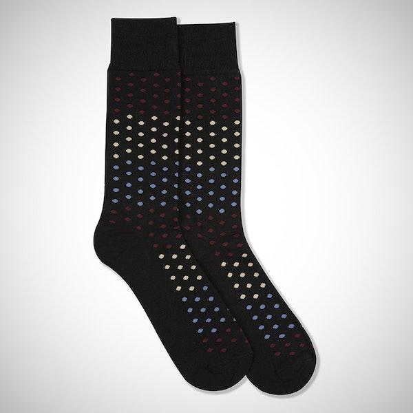 Champagne Toast Black Pin Dot Sock