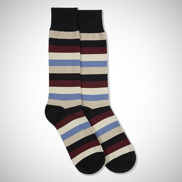 Champagne Toast Black Striped Sock