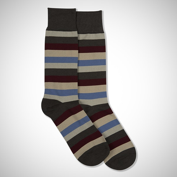 Champagne Toast Gray Striped Sock